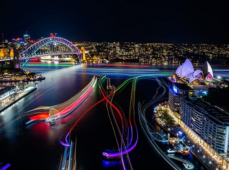 Vivid Sydney 2016 Sydney Harbour CREDIT Destination NSW KM 5698